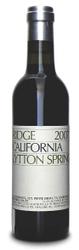 Ridge Zinfandel Lytton Springs 2009  - meia gfa.