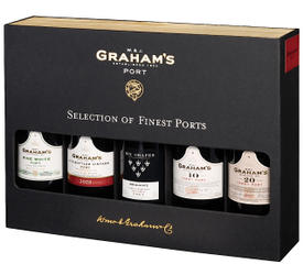Kit Selection of 5 Graham's Finest Ports  - 200 ml