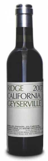 Ridge Zinfandel Geyserville 2009 - meia gfa.