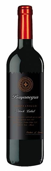 Bayanegra Tempranillo Black Label 2015