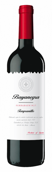 Bayanegra Tempranillo 2017