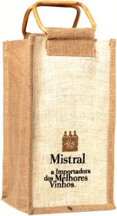 Sacola Mistral com alça de cana para 4 garrafas